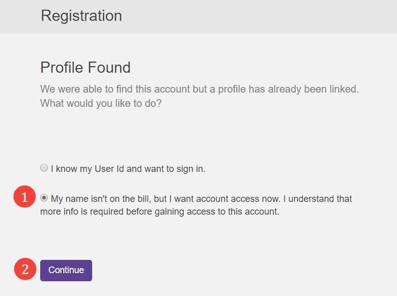 Create a new profile, step 4
