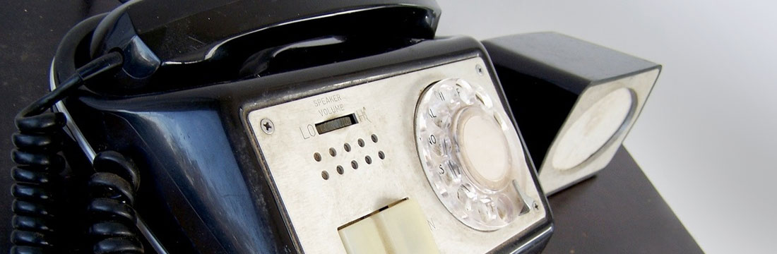 Photo of a rotary style phone