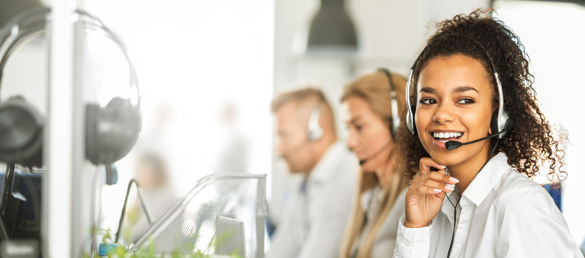 Photo of support staff manning phone system