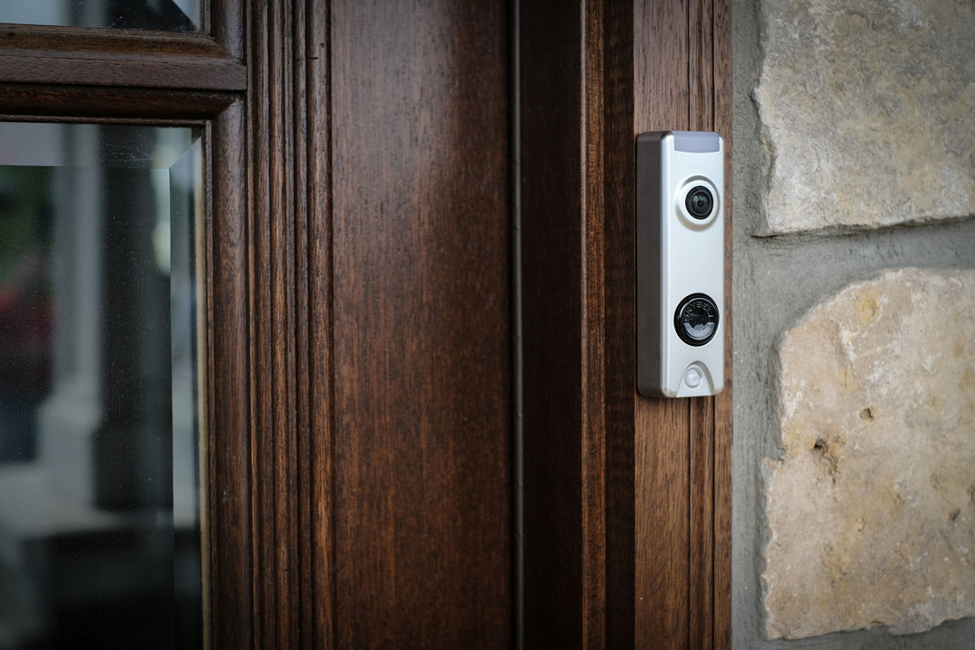 Photo of a doorbell camera