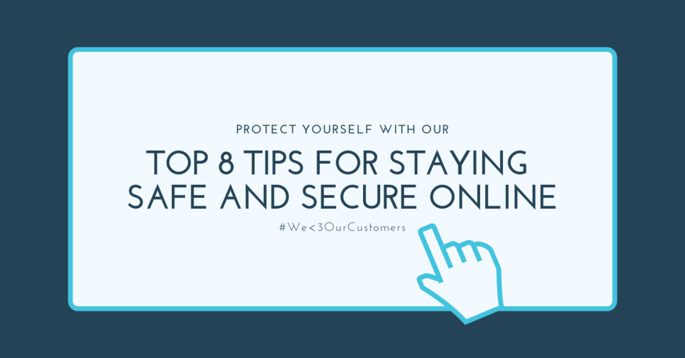 Illustration for online safety tips